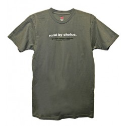 Rural by Choice T-shirt - Gray
