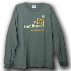 Get Real Get Rural Long Sleeve - Charcoal