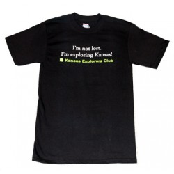 I'm Not Lost Tshirt - Black