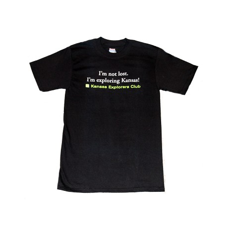 I'm Not Lost Tshirt - Black